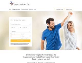 tanzpartner.de screenshot