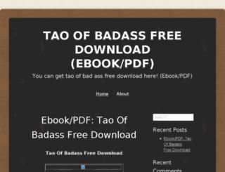 taoofbadassfreedownload.wordpress.com screenshot