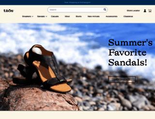 taosfootwear.com screenshot