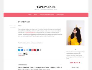 tapeparade.wordpress.com screenshot
