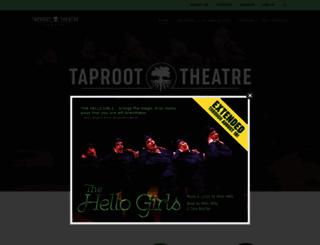 taproottheatre.org screenshot