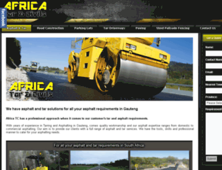tarandasphalt.co.za screenshot