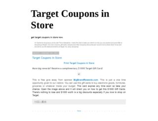 targetcouponsinstore.blogspot.com screenshot