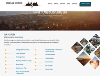 targetlandsurveying.ca screenshot