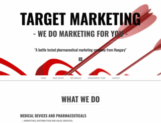 targetmarketing.hu screenshot