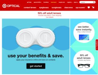 targetopticalcontacts.com screenshot