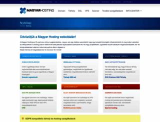 tarhely.com screenshot