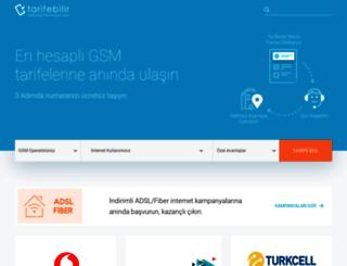 tarifebilir.com screenshot