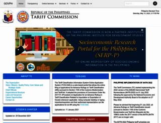 tariffcommission.gov.ph screenshot