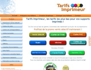 tarifs-imprimeur.fr screenshot