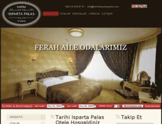 tarihiispartapalas.com screenshot