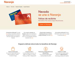 tarjetanevada.com.ar screenshot