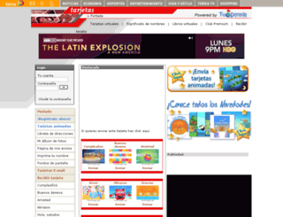 tarjetas.terra.com.mx screenshot