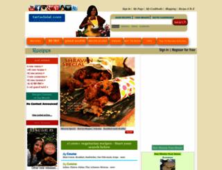 tarladalal.com screenshot