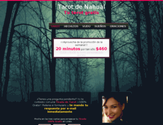 tarot-de-nahual.com.mx screenshot