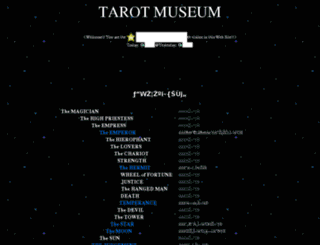 tarot-museum.jp screenshot