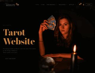 tarotwebsite.net screenshot