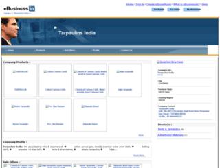 tarpaulinsindia.ebusinessin.com screenshot