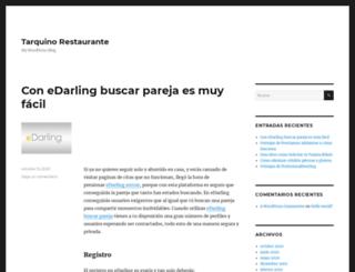 tarquinorestaurante.com.ar screenshot
