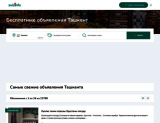 tashkent.avizinfo.uz screenshot