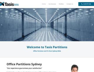 tasispartitions.com.au screenshot