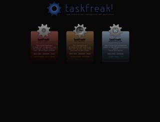 taskfreak.com screenshot
