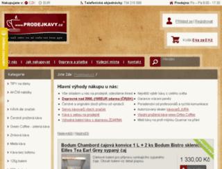 tassimo.prodejkavy.cz screenshot