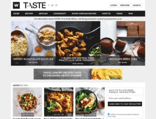 tastemag.co.za screenshot
