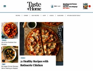 tasteofhome.com screenshot