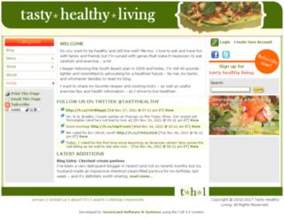 tastyhealthyliving.com screenshot