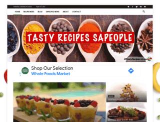 tastyrecipes.sapeople.com screenshot