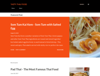 tastythaifoods.blogspot.com screenshot