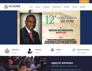 tasued.edu.ng screenshot
