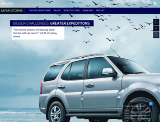 tatasafaristorme.co.in screenshot