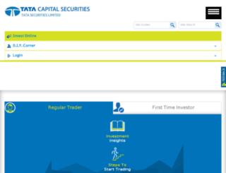 tatasecurities.com screenshot