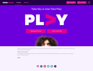 tatasky.com screenshot