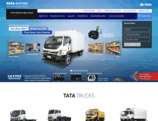tatatrucks.tatamotors.com screenshot