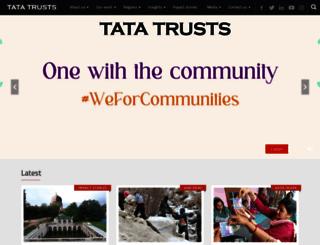 tatatrusts.org screenshot
