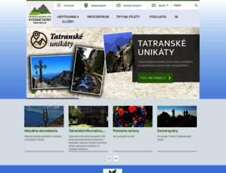 tatry.sk screenshot