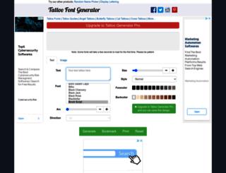 tattoofontgenerator.net screenshot