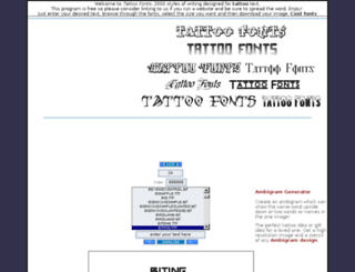 tattoofonts.net screenshot