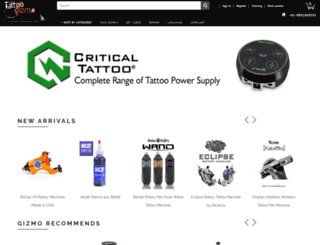 tattoogizmo.com screenshot