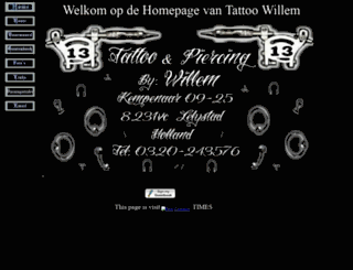 tattoopiercingstudiolelystad.nl screenshot