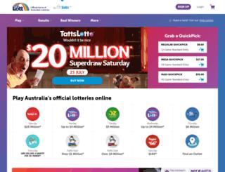 tatts.com.au screenshot