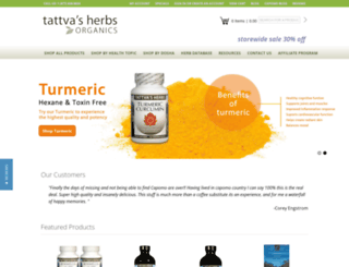 tattvasherbs.com screenshot