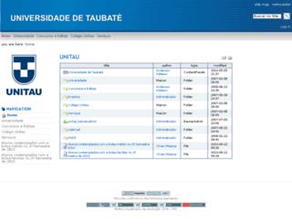 taubate.unitau.br screenshot