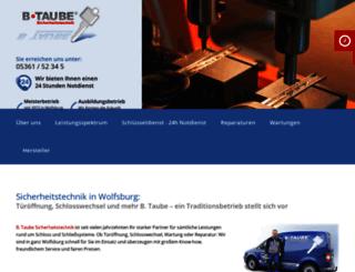 taube-sicherheitstechnik.de screenshot