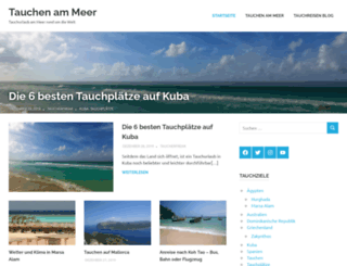 tauchen-am-meer.de screenshot