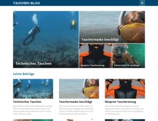 tauchen-blog.de screenshot