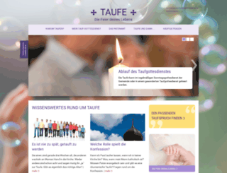 taufe.bayern-evangelisch.de screenshot